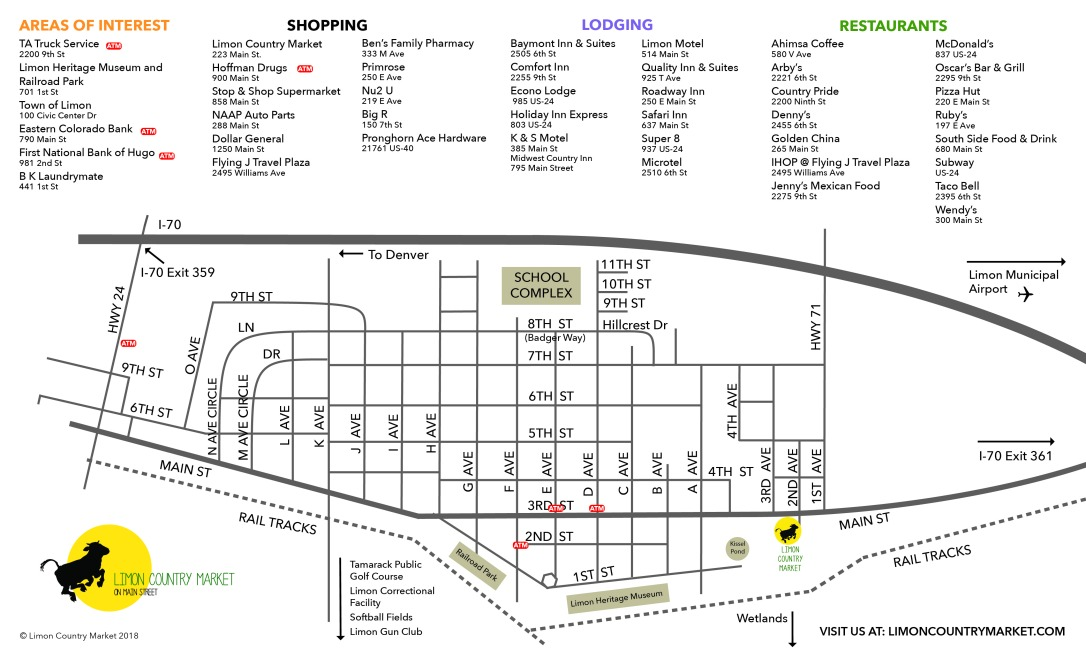 Limon Colorado Map-01